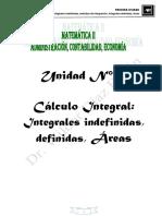 Cálculo Integral:Integrales indefinidas,definidas,áreas