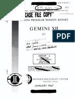Gemini Program Mission Report Gemini Xii