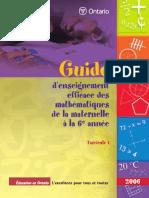 Enseig Efficace Des Maths_De La Maternelle à La 6e Année