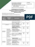 Cronograma de Tabajo Sena Humanizacion