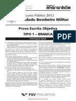 Prova Policia Militar Soldado Bombeiro Militar Caderno 01