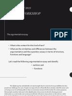 2019 Writing workshop - argumentation.pptx