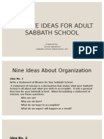 Creative Ideas for Adult Ss