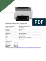 Spesifikasi HP Printer LaserJet Pro