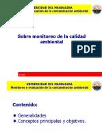 Clase 2 Monitoreo y Evaluacion de La Contaminacion Ambiental. Generalidades