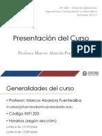 2019-2 INF1203 - Presentación Del Curso