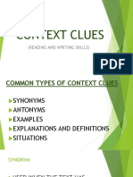 Contex Clues