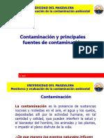 Clase 3. Contaminacion y Principales Fuentes de Contaminacion