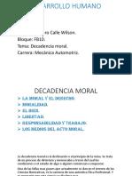 Decadencia Moral.