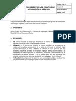 PSST-13 Control Dispositivos de Seguimiento y Medicion