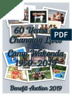 Camp Wakonda Benefit Auction 2019 Catalog