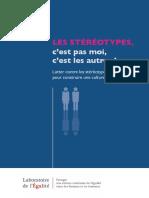 Les Stéréotypes Cest Pas Moi Cest Les Autres Laboratoire de Légalité Nov 2013