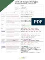CheatSheet Python 3 Complex Data Types