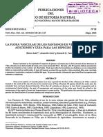 Publicaciones Botánica Serie B N° 38