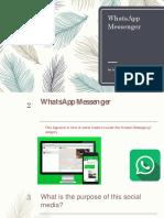 whatsapp social media presentaion