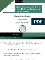Jitman - SRIM and SCRIM Divisors of x^n-1