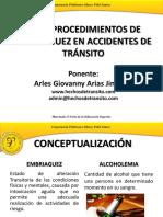 procedimientos de embriaguez en accidentes