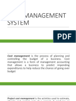Cost Management System