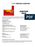 The King and I Audition Pack
