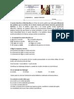 Evaluación de Español. 2.p