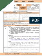 Septiembre - 5to Grado Inglés (2019-2020)