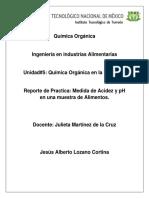 Química Orgánica Practica Julieta Acidez y PH