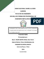 Plan de Tesis Minera Colquisiri