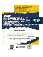 Programa VIII Encuentro, 2019