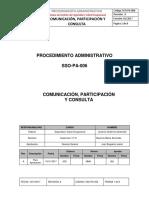 SSO-PA-006  Comunicación, Participación y Consulta