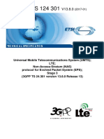 3gpp Ts 24.301 Version 13.8.0 Release 13 Nas Protocol for Eps