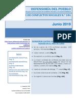 CONFLICTOS SOCIALES NUEVOS EN EL MES DE JUNIO