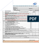 Income Tax Declaration Form-F.Y 2019-2020 -Staff