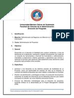 Programa de administración de Proyectos UMG