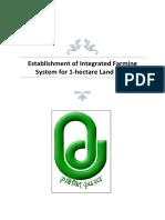 Establisment of Intigrated Farming System for 1 Ha Area