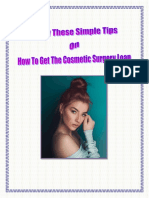 Know These Simple Tips On How To Get The Cosmetic Surgery Loan