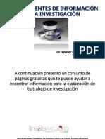 Base de Fuentes de Información Para Investigación