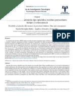 Flexibilidad de la memoria tipo episódica en ni˜nos preescolares:tiempo y consecuencia