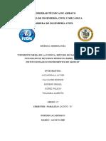 Informe de Hidrología 1