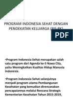 Program Indonesia Sehat Dengan Pendekatan Keluarga (Pis-pk