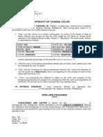 Affidavit of Change Color-dominador