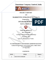 Project Report on Marketing Strategy of Nalco