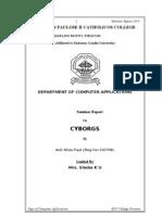 Seminar Report on CYBORGS