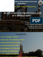 Blast Furnace Processing and It's Operations
