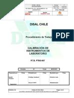 Calibración de instrumentos de laboratorio