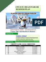 FLAVORS INN ICE CREAM PARLOR BUSINESS PLAN