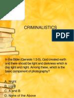 Criminalistic s