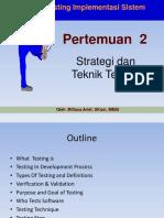 Strategi Teknik Testing