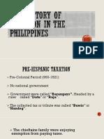 Taxation History