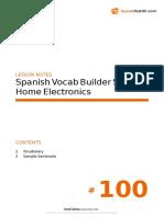 Spanish Vocabulary Builder A1