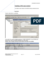 Creating a PLC user version 810D